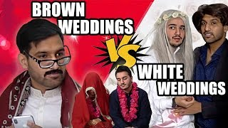 WHITE VS BROWN WEDDINGS!
