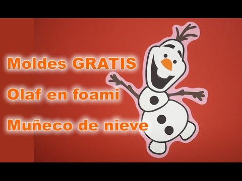 Muñeco de nieve Olaf Frozen en foami paso a paso con moldes para Arbol de navidad Fiestas infantiles