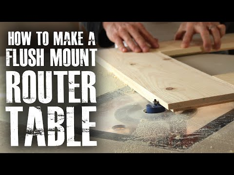 Make a Flush Mount Router Station!