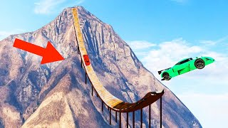 WORLDS BIGGEST MOUNTAIN RAMP EVER! (GTA 5 Funny Moments)