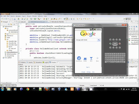 Android Web View Tutorial - A simple web browser