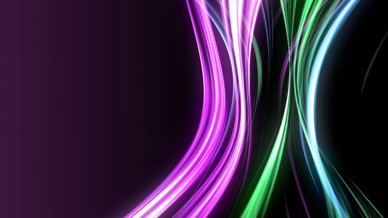 Moving Background - Neon Rays of Cool Color Tones - YouTube