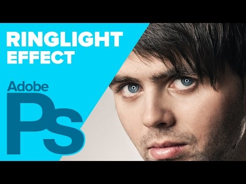 RING LIGHT effect in Adobe Photoshop klip izle