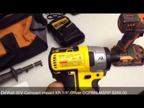 DeWalt Brushless VS Ridgid Compact lithium Drill Driver Comparison