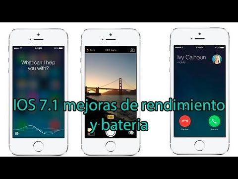 Mejoras de bateria y rendimiento en iPhone 4 en IOS 7.1 2014 español