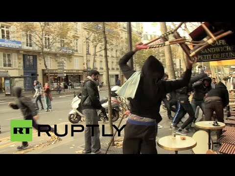 RAW: Clashes in Paris at rally against police brutality, immigrant deportation