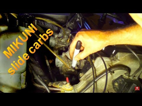 How To Adjust Snowmobile Carb Idle Screw Setup on Mikuni
