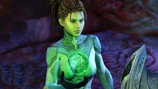 Enemy Within: Kerrigan Infects Lasarra and Contaminates Protoss Ship (Starcraft 2)