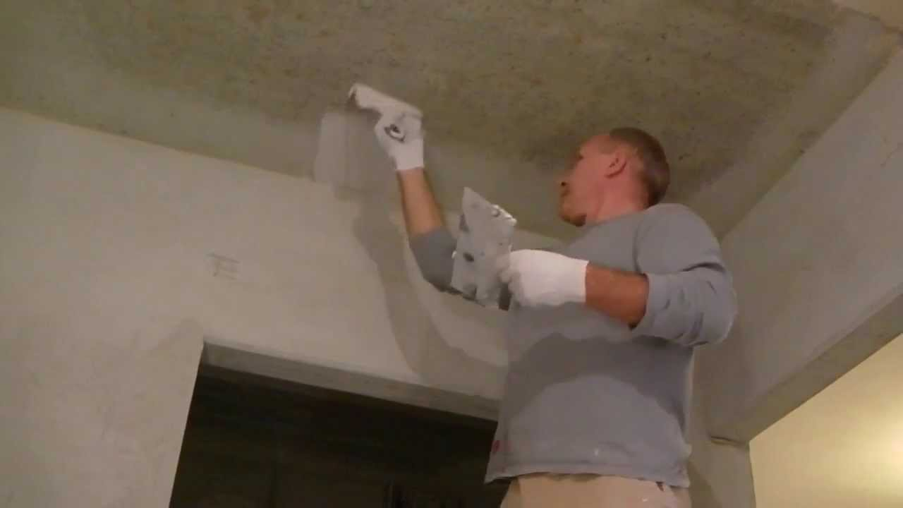 Как шпаклевать потолок своими руками новичку 37