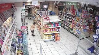CCTV camera catch naughty kid
