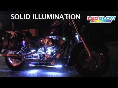 White LED Flexible Motorcycle Lighting Kit