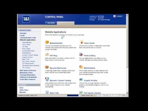 1and1 Web Hosting Review And Tour (2/2)