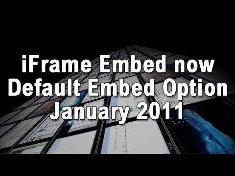 YouTube Quietly Changes Default Embed Code to HTML5 Friendly iFrames
