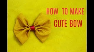 DIY Cute Bow For Frocks And Dresses
