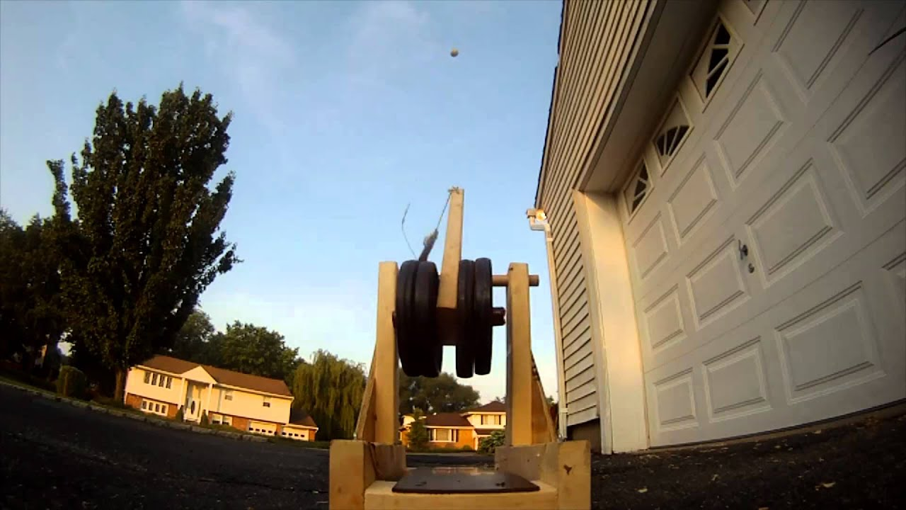 how to build a tennis ball trebuchet