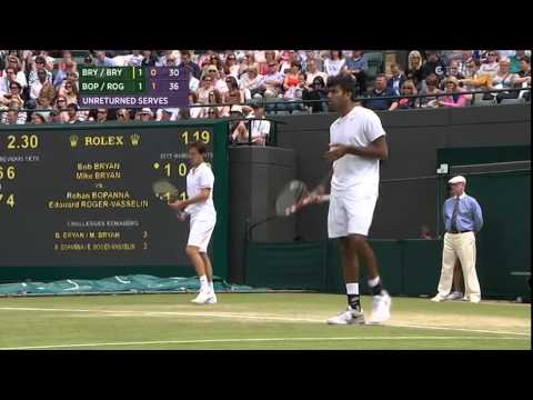 ATP 2013 Wimbledon Doubles Bryan/Bryan vs Bopanna/Roger-Vasselin