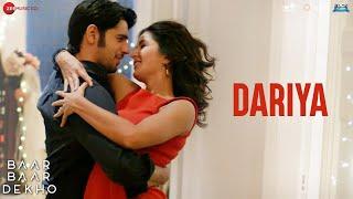 Dariya - Baar Baar Dekho | Sidharth Malhotra & Katrina Kaif | Arko