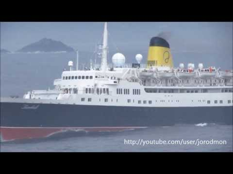 Cruise Ship FUNCHAL leaving A Coru�a. September 18, 2013