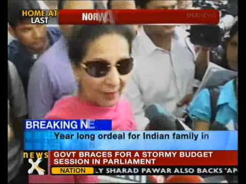 Norway custody row: NRI kids return to India - NewsX