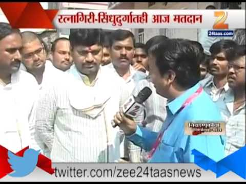 Zee24Taas : Dhananjay Munde voting for loksabha election, beed