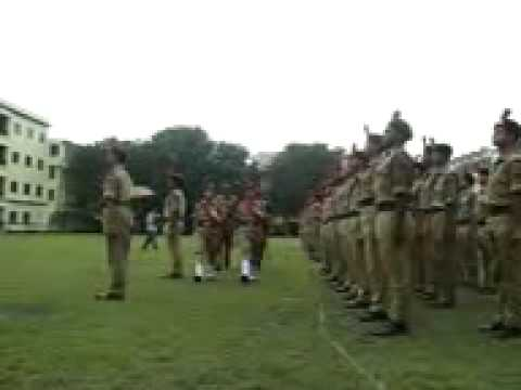 Parade Inspection by GOC - SXC NCC VI COMPANY