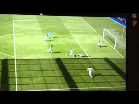 Petr cech takes aguero out.   FIFA 12