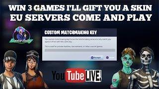 🔴 Hosting EU Custom Match Making scrims Fortnite Battle Royale Live | PS4 | Xbox | PC