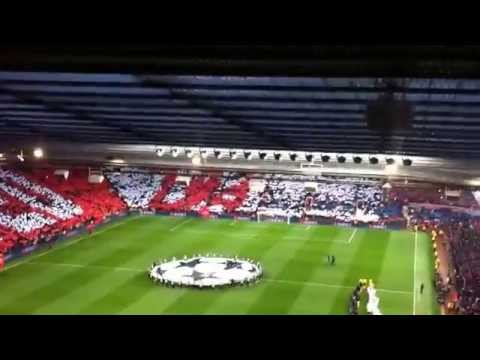 Manchester United vs Bayern Munich - Stretford End Fans (including Vidic's goal)