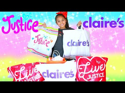 Justice Haul & Claire's Holiday Christmas Shopping Fashion Clothing & Accessories Tiana Hearts
