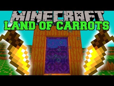 Minecraft: LAND OF CARROTS (DIMENSION. CARROT LAUNCHER. & MORE!) Mod Showcase