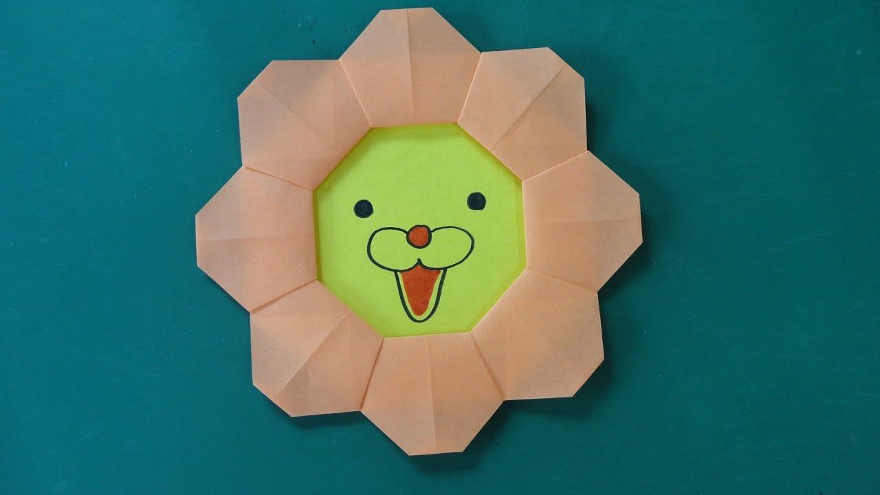 すべての折り紙 折り紙 ライオンの折り方 : Pon De Lion