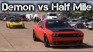 Dodge Demon Takes on C7 Corvette Z06, Mustang, More in Half Mile!