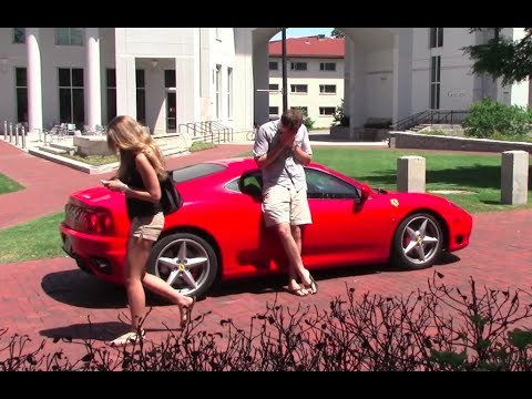 does a ferrari 360 attract women youtube. Black Bedroom Furniture Sets. Home Design Ideas