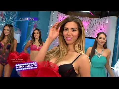 Vanessa Jerí presentó sexy desfile de lencería