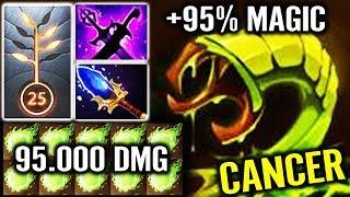 OMG Can't Run! 95K Magical Dmg Venomancer Most Cancer Hero Gameplay Epic WTF Dota 2