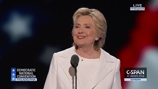 Hillary Clinton FULL REMARKS at Democratic National Convention (C-SPAN)