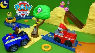 NEW Paw Patrol Toys! Chase's Off Road Rescue Track Playset Winch Vehicle Little Hootie Owl Marshall