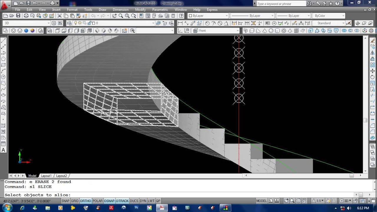 How to draw a spiral stair in auto cad 2010 youtube