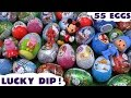 Giant 55 Surprise Egg Peppa Pig Play Doh Cars Thomas and Friends Huevos Sorpresa Toys Avengers