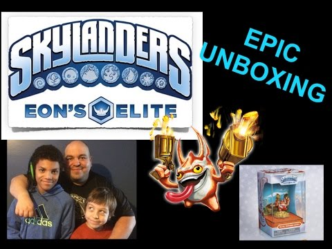 SKYLANDERS EON'S Elite Trigger Happy Epic Unboxing and Gameplay