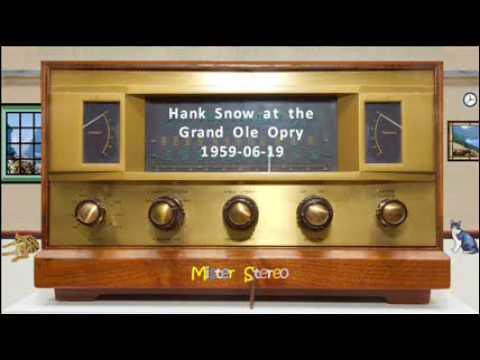 Hank Snow at the Grand Ole Opry 1959 06 19 Part 1 of 3