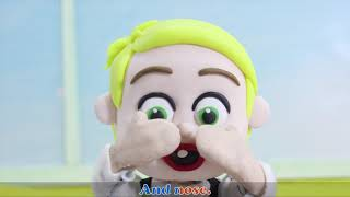 Head Shoulders Knees & Toes | Cody And Lucy Nursery Rhymes & Kids Song | Stop Motion Animation