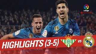 Resumen de Real Betis vs Real Madrid (3-5)