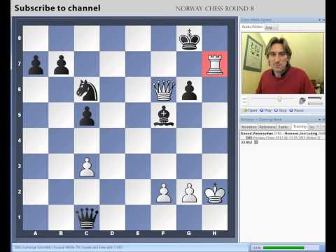 Norway Chess 2013 Round 8 Anand vs Hammer