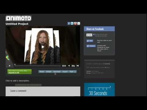 Easy Slideshows With Animoto