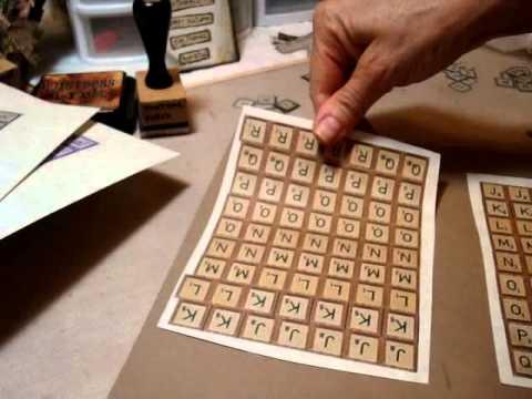Make Your Own Scrabble Letter Tiles Youtube
