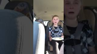 Little girl upset because her Big brother won't give her a hug and a kiss at school. Part 2