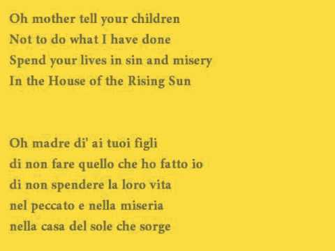 The House of the Rising Sun – Cover with lyrics (testo + traduzione italiano)