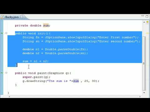 Intermediate Java Tutorial - 22 - init for Applets