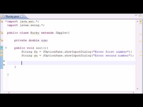 Intermediate Java Tutorial - 22 - init for Applets